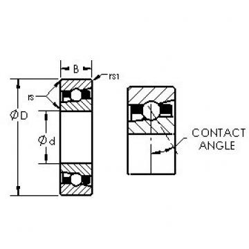 AST H7017C angular contact ball bearings