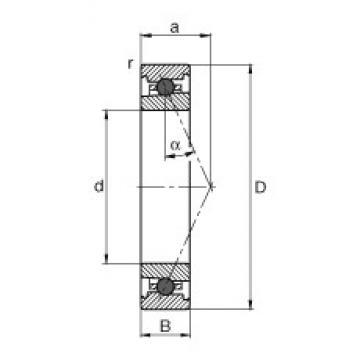 FAG HC7011-E-T-P4S angular contact ball bearings