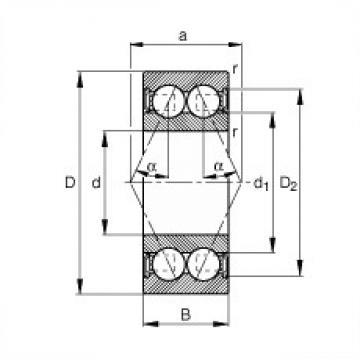 FAG 3809-B-2RSR-TVH angular contact ball bearings