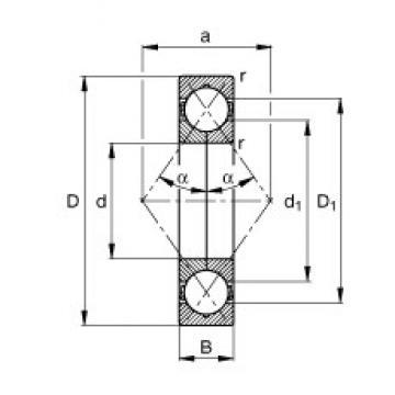 FAG QJ212-TVP angular contact ball bearings