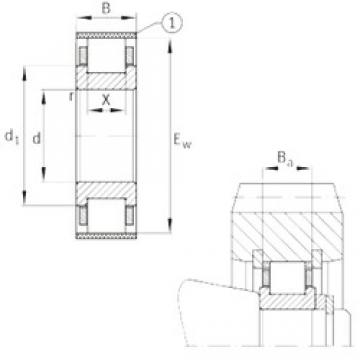FAG RN204-E-MPBX cylindrical roller bearings