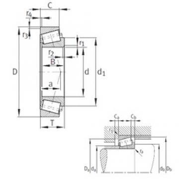 FAG 32044-X tapered roller bearings