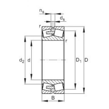 FAG 23076-E1A-MB1 spherical roller bearings