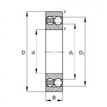 FAG 2318-M self aligning ball bearings