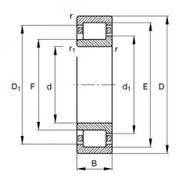 FAG NJ419-M1 cylindrical roller bearings