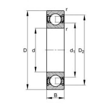 FAG 6210-2RSR deep groove ball bearings