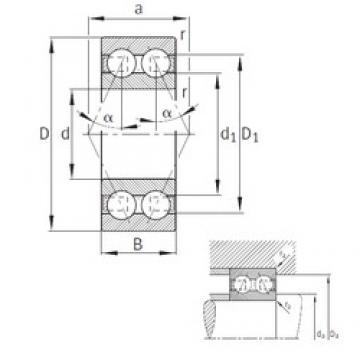 FAG 3302-B-TVH angular contact ball bearings