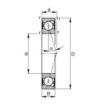 FAG B71922-C-2RSD-T-P4S angular contact ball bearings