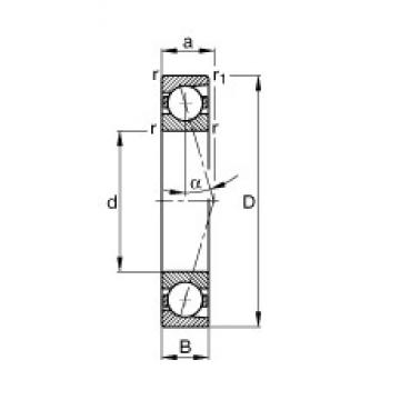 FAG B71932-C-T-P4S angular contact ball bearings