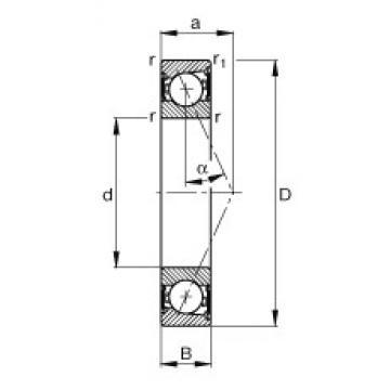 FAG B7005-E-2RSD-T-P4S angular contact ball bearings