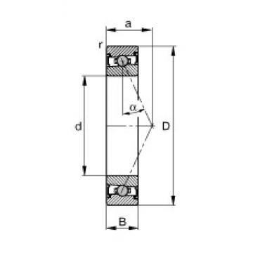 FAG HCS7012-E-T-P4S angular contact ball bearings