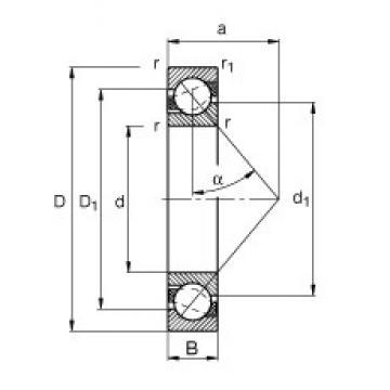 FAG 7309-B-TVP angular contact ball bearings