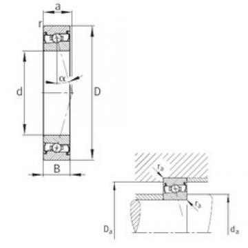 FAG HCS7005-C-T-P4S angular contact ball bearings