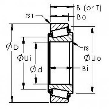 AST 2582/2523 tapered roller bearings