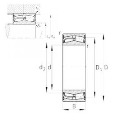 FAG 24028-E1-2VSR-H40 spherical roller bearings