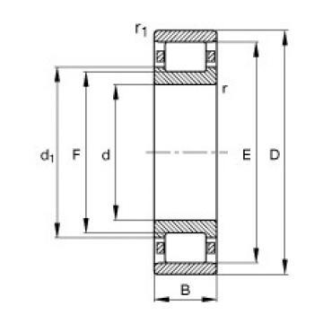 FAG N332-E-M1 cylindrical roller bearings