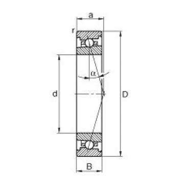 FAG HS71910-C-T-P4S angular contact ball bearings