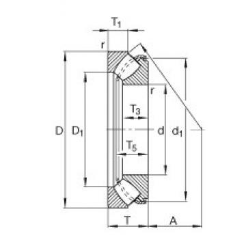 FAG 29415-E1 thrust roller bearings