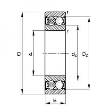 FAG 2209-2RS-TVH self aligning ball bearings
