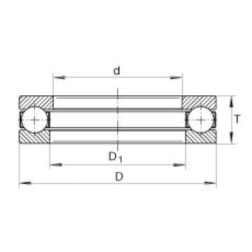 INA GT27 thrust ball bearings
