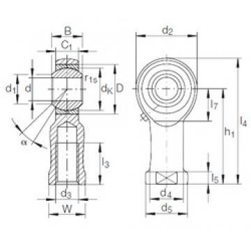 INA GIKL 8 PB plain bearings