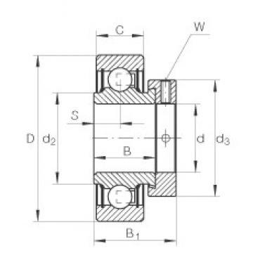 INA RALE25-NPP deep groove ball bearings