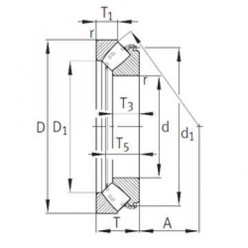 INA 29464-E1 thrust roller bearings