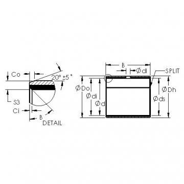 AST AST40 7580 plain bearings