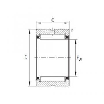 INA NK22/20-XL needle roller bearings