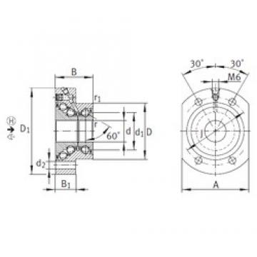 INA DKLFA2080-2RS thrust ball bearings