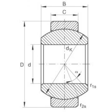 INA GE8-FO plain bearings