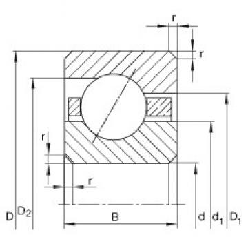 INA CSEC060 deep groove ball bearings
