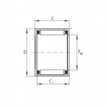 INA BCE228 needle roller bearings