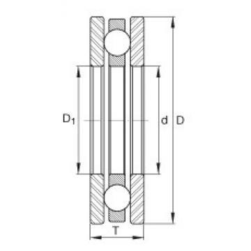 INA 4445 thrust ball bearings