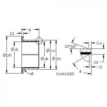 AST AST40 F25215 plain bearings