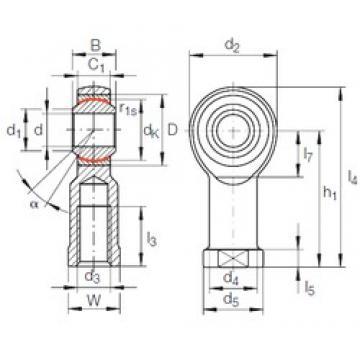 INA GIKFL 12 PW plain bearings
