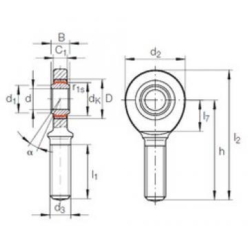 INA GAR 50 UK-2RS plain bearings