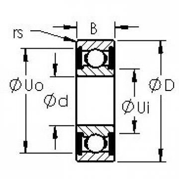 AST 684H-2RS deep groove ball bearings