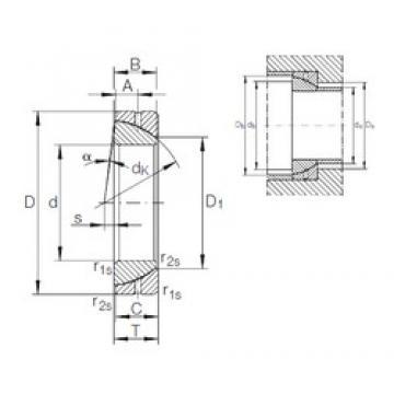 INA GE 70 SX plain bearings