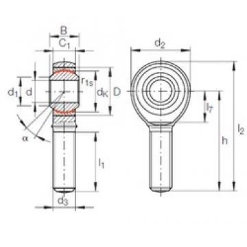 INA GAKR 30 PW plain bearings