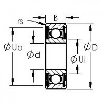 AST R2AZZ deep groove ball bearings