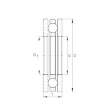 INA 4467 thrust ball bearings
