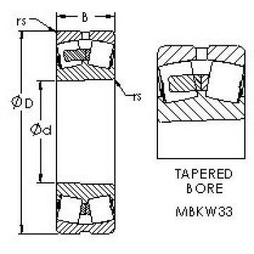 AST 23128MBKW33 spherical roller bearings