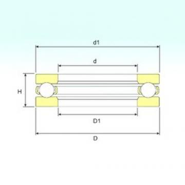 ISB 51117 thrust ball bearings