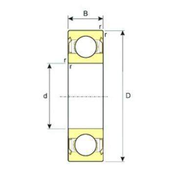 ISB SS 61907-2RS deep groove ball bearings