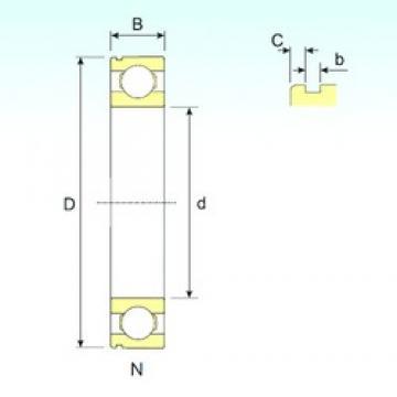 ISB 6412 N deep groove ball bearings