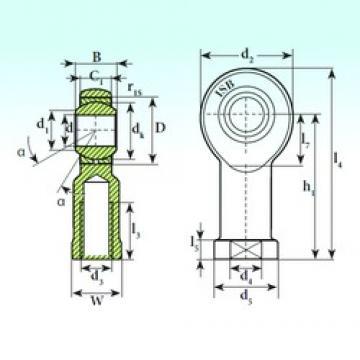 ISB TSF 10 C plain bearings