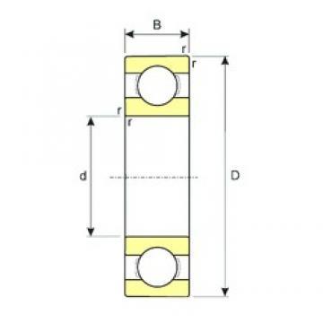 ISB 61817 deep groove ball bearings