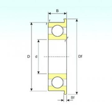 ISB F634 deep groove ball bearings