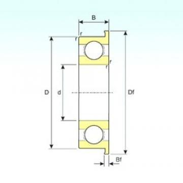 ISB MF117 deep groove ball bearings